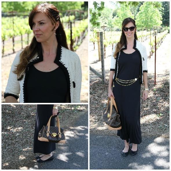 Dress up black maxi dress