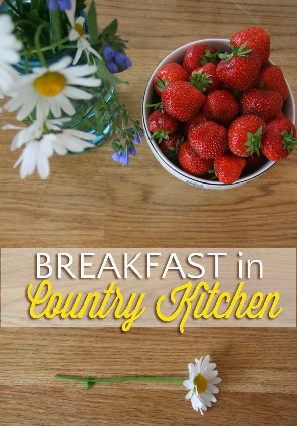 Breakfast in country kitchen