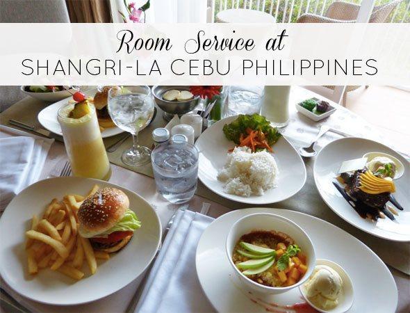 Room service at Shangri-La Cebu Philippines. Photo by @houseofanais