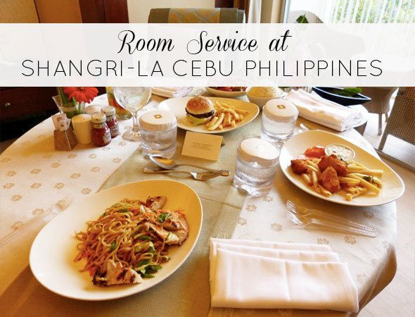 Room service in Shangri-La Cebu. Photo by @houseofanais
