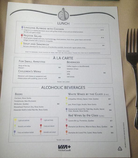 via-rail-menu