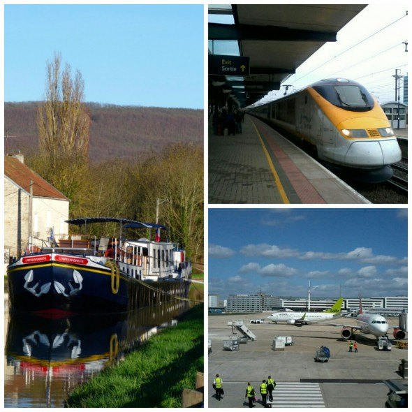 Combination travel with rail, cruising and flying