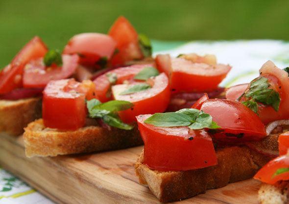 Bruschetta recipe as seen on Skimbaco Lifestyle