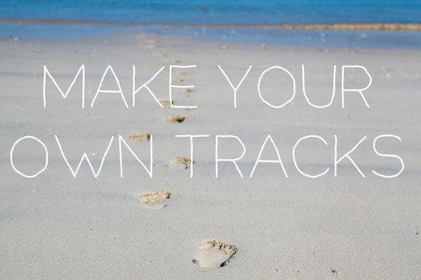 make your own tracks on the beach of life... #GHCBeachDays Beach quotes at  https://www.skimbacolifestyle.com/2013/07/beach-quotes.html