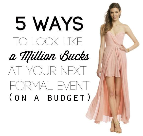 5 Ways to save money on formal clothing