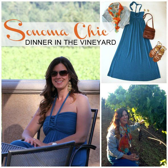 Sonoma Chic for vineyard dinner