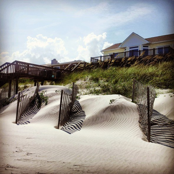 Relaxing at Topsail Beach, NC