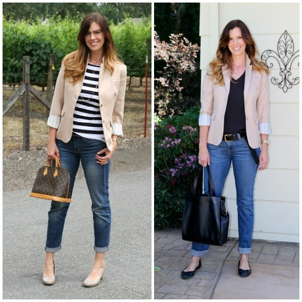 How to wear the boyfriend jeans in different ways