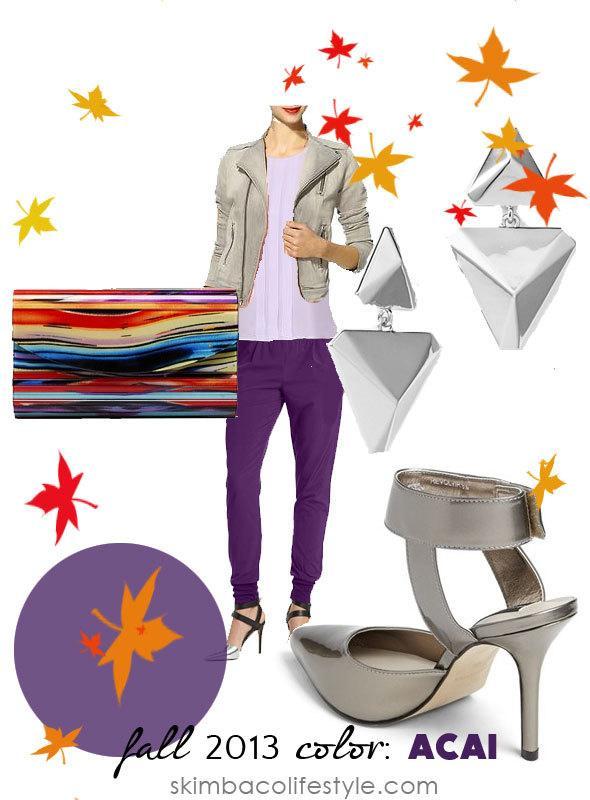 fall color trend: acai