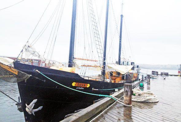 Sailboat in Halifax, Nova Scotia, in Canada