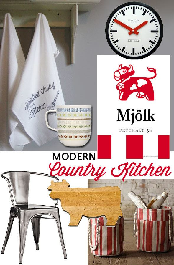 Perfect products for modern country kitchen picked by Katja Presnal | https://www.skimbacolifestyle.com/2013/08/modern-country-kitchen.html