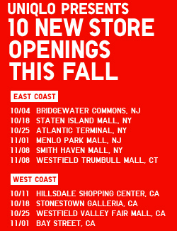 uniqlo store openings in the USA