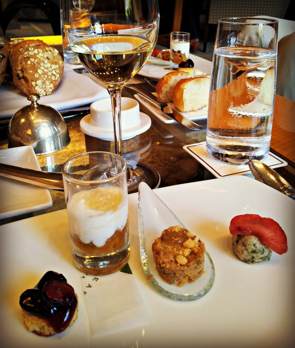 Canapes at the Umstead Hotel and Spa in Cary, NC