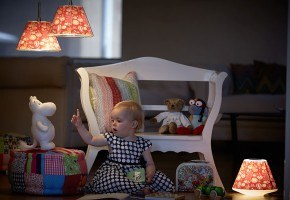 Moomin pendant lamps by Le Klint