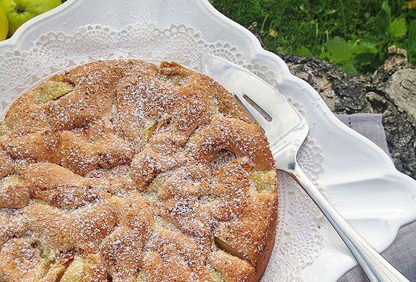 the easiest ever apple cake recipe from skimbacolifestyle.com