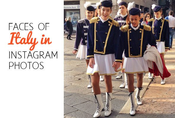 Faces of Italy in Instagram pictures