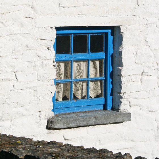 blue window in Ireland