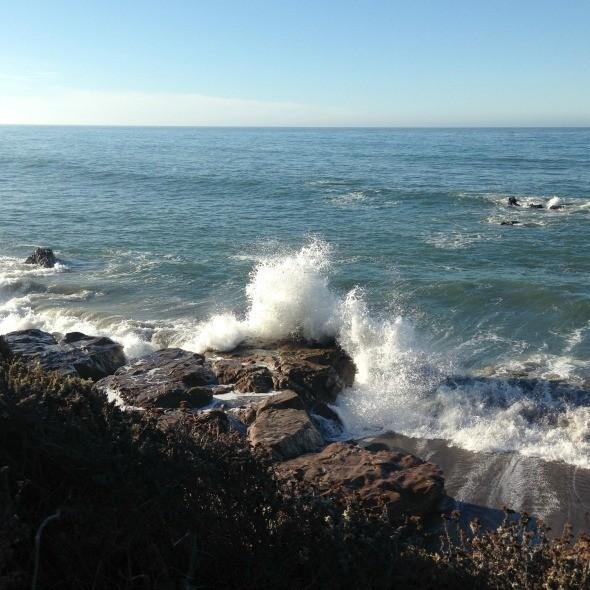 Waves at Moonstone Beach