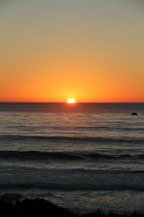 Sunset on Moonstone Beach