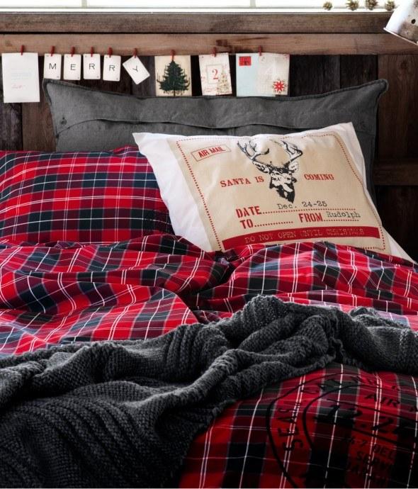 deer pillow case cabin christmas