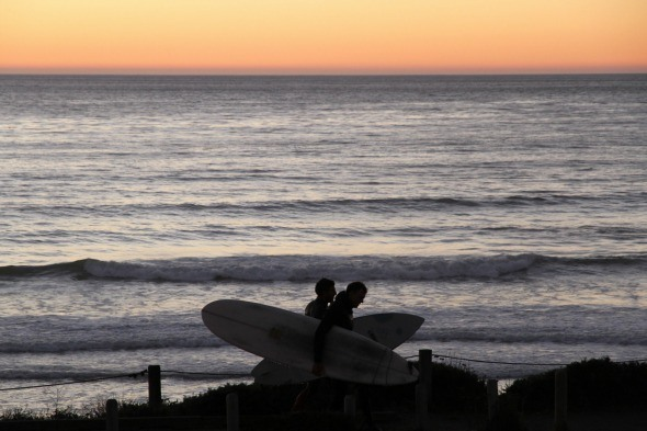 Moonstone Beach Surfers