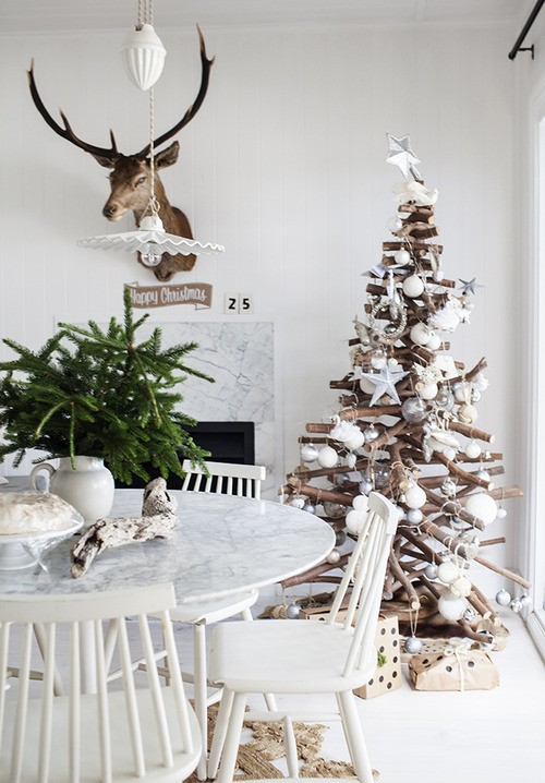 Holiday home chalet chic style inspired by my ski trip Christmas moose home decor