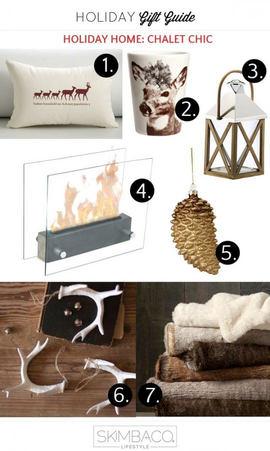 Chalet Chic - Rustic Glam decorating ideas for Christmas