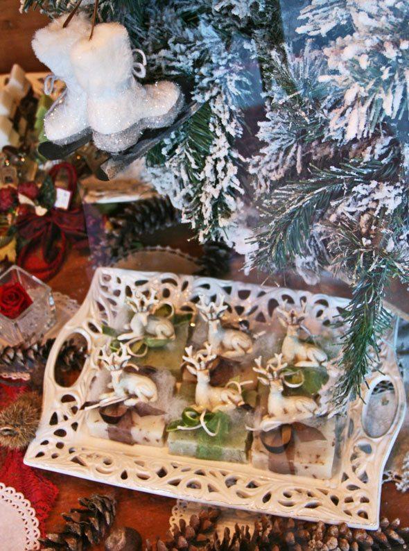 christmas window in Bardonecchia Italy