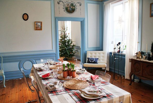 Christmas in Swedish mansion