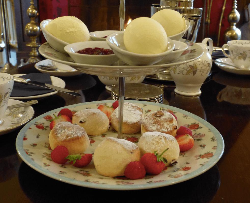 Cream tea at a castle