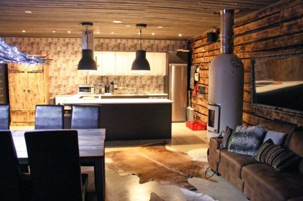 Luxury cottage and sauna in Lapland.