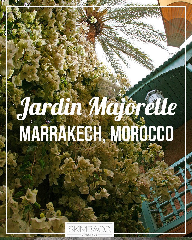 The jardin majorelle is where yves saint laurent got his for Jardin ysl marrakech