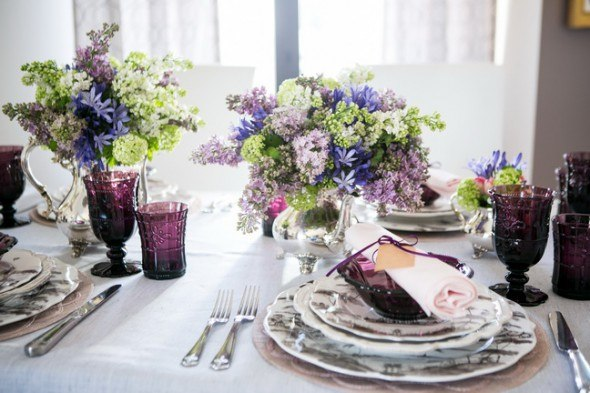 European elegance for spring tablescapes: English countryside sophistication by Svitlana Flom of Art de Fête