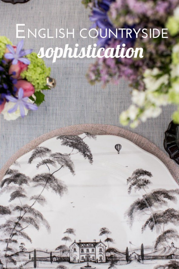 English countryside sophistication for Mother's Day tablescape