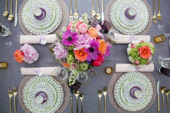 mothers day and spring table setting
