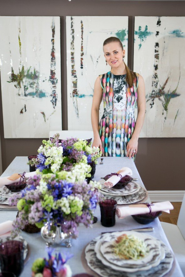 European elegance for spring tablescapes: French elegance and English countryside sophistication by Svitlana Flom of Art de Fête