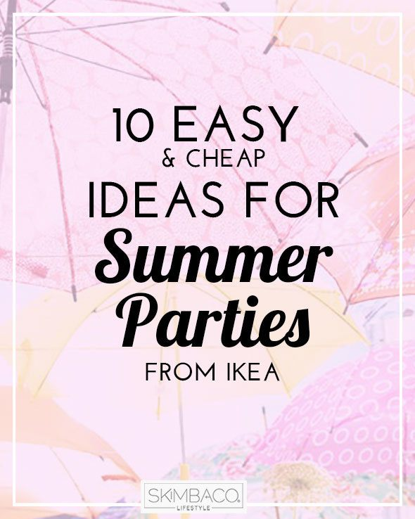 Inexpensive Centerpieces For Outdoor Party : 10 Ideas for Outdoor Parties from IKEA  Skimbaco Lifestyle online