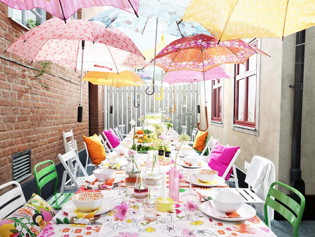 10 ideas for outdoor parties from ikea skimbaco for Backyard party decoration ideas