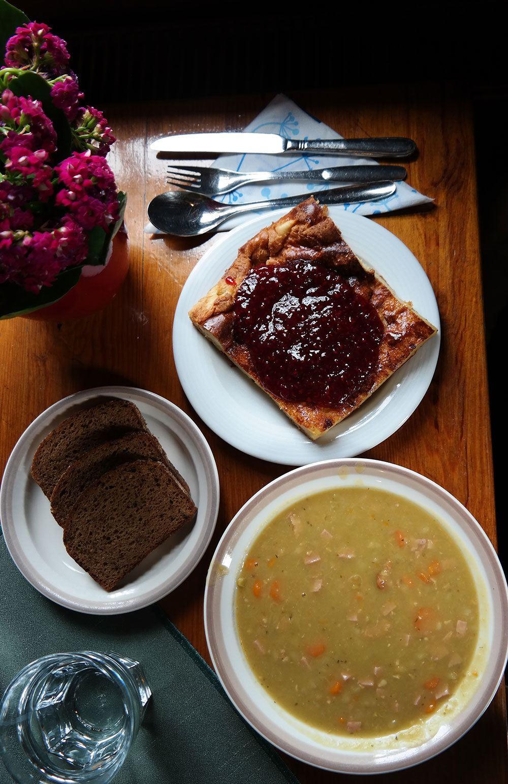 Pea soup and pancakes in Turku, Finland. Travel photo by Katja Presnal | @skimbaco