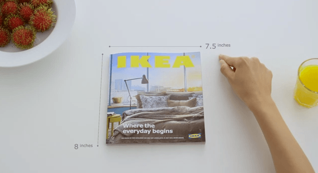 Experience the power of a bookbook™  - IKEA catalog ad 2015