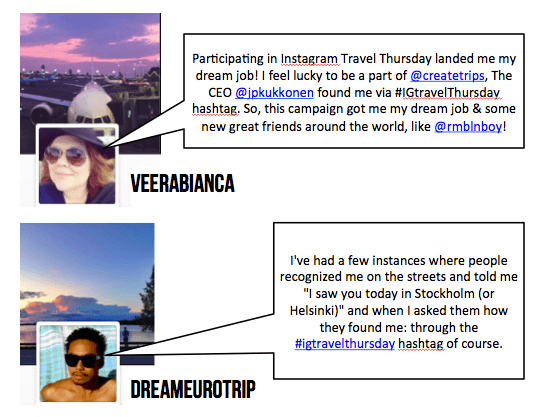 Power of Instagram Travel Thursday community