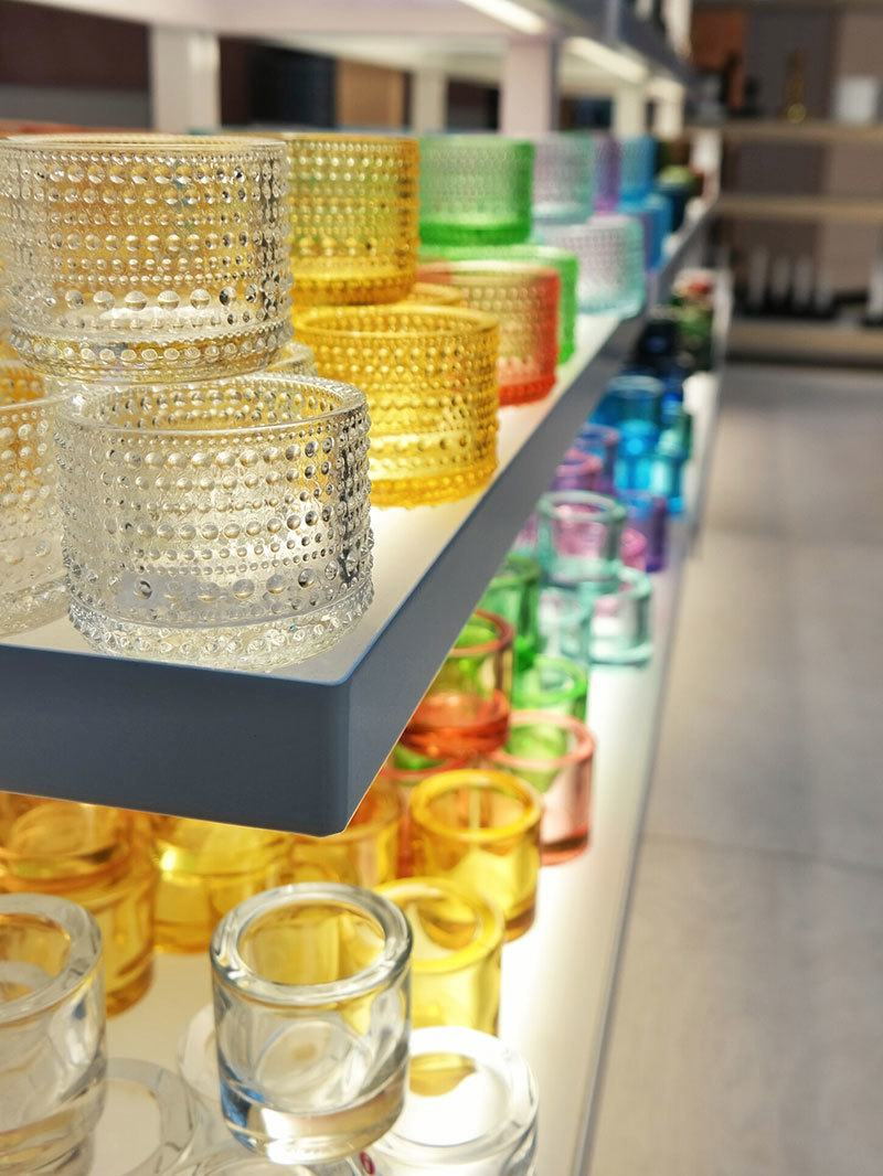 iittala glass - helmi candle votives in multiple colors