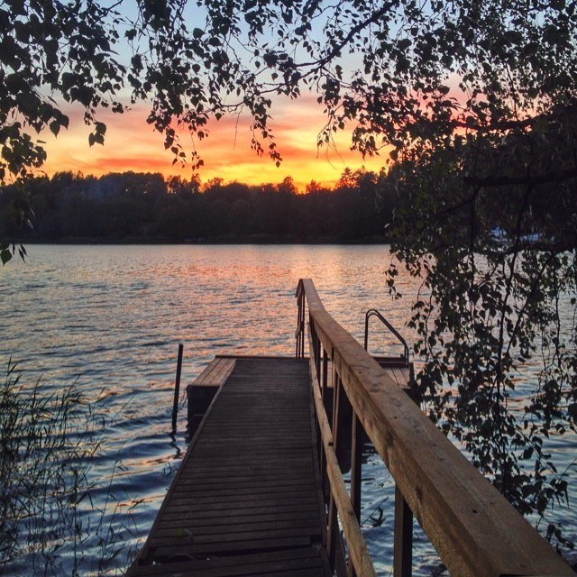 midsummer sun in finland