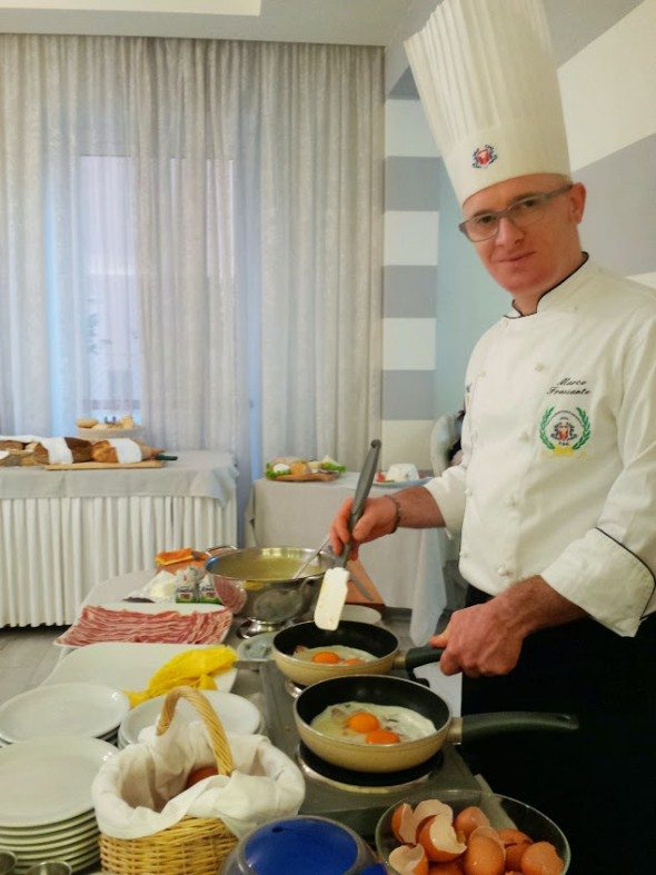 breakfast cooked to order at Hotel Nettuno