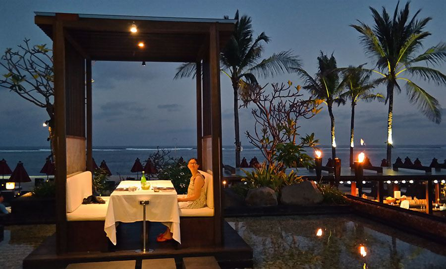 st regis dinner by beach