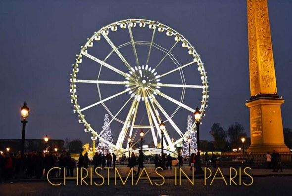 Christmas lights in Paris