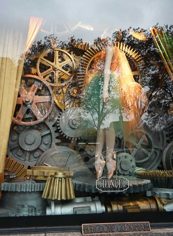 Dance themed window at the Berdorf Goodman.