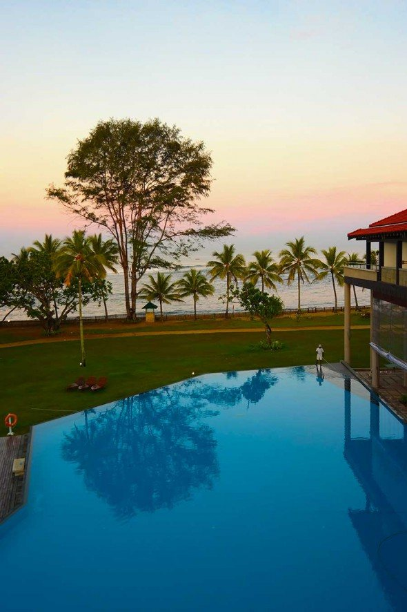 Morning moment at the Cinnamon Bey Hotel Beruwala in Sri Lanka.