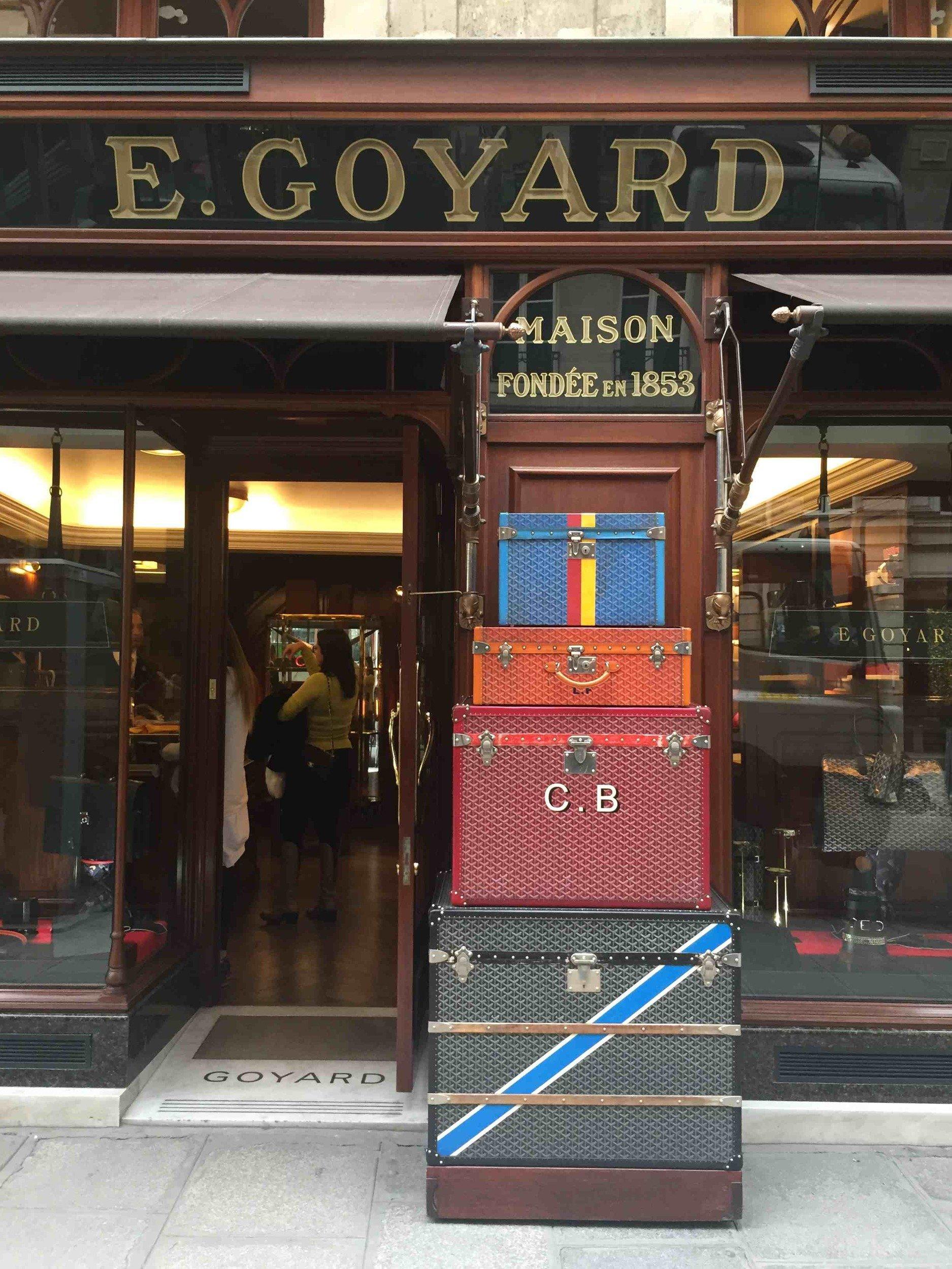 global flagship of French leather good designer Goyard
