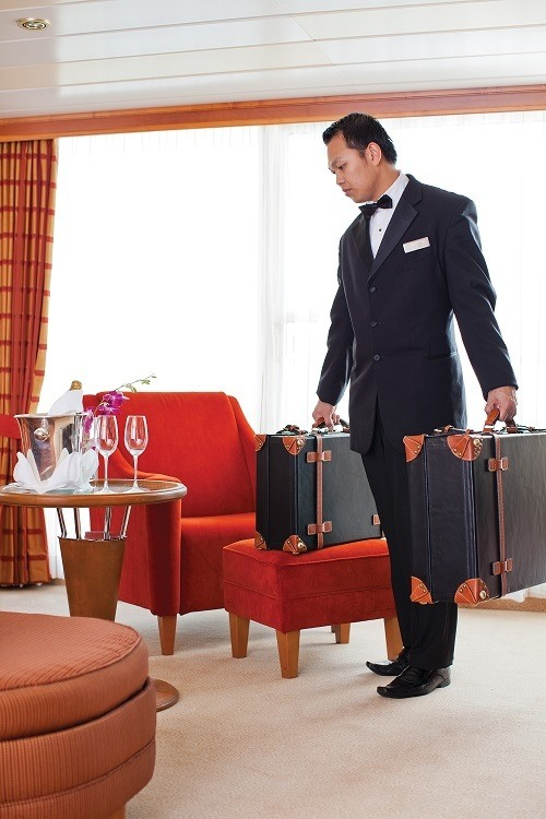 Butler service with Regent Seven Seas Cruises